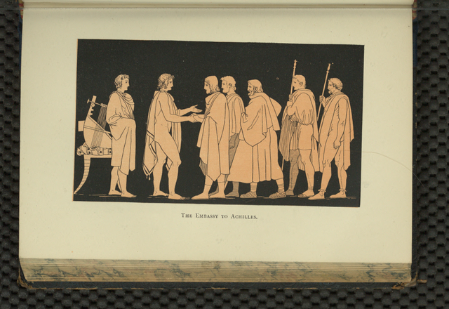 The Embassy to Achilles from The story of the Iliad, 1892: A. J. Church, Public domain, via Wikimedia Commons